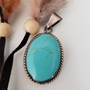 Jewelry - Lovely Turquoise & Sterling Pendant